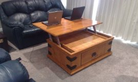 DIY Lift Top Coffee Table