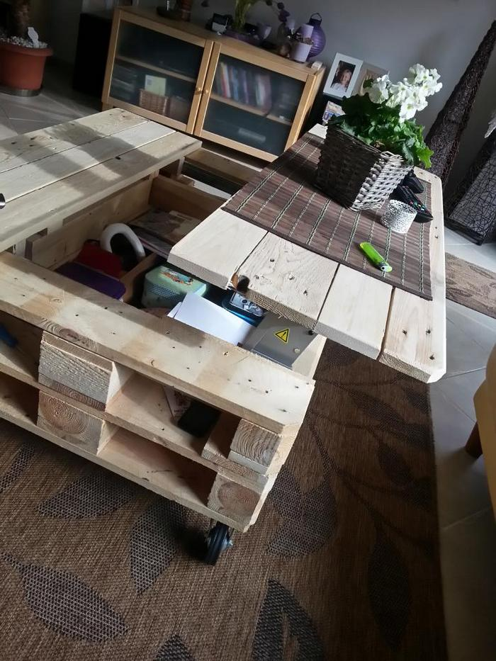 Make A Lift Top Coffee Table Out Of Pallets Diy