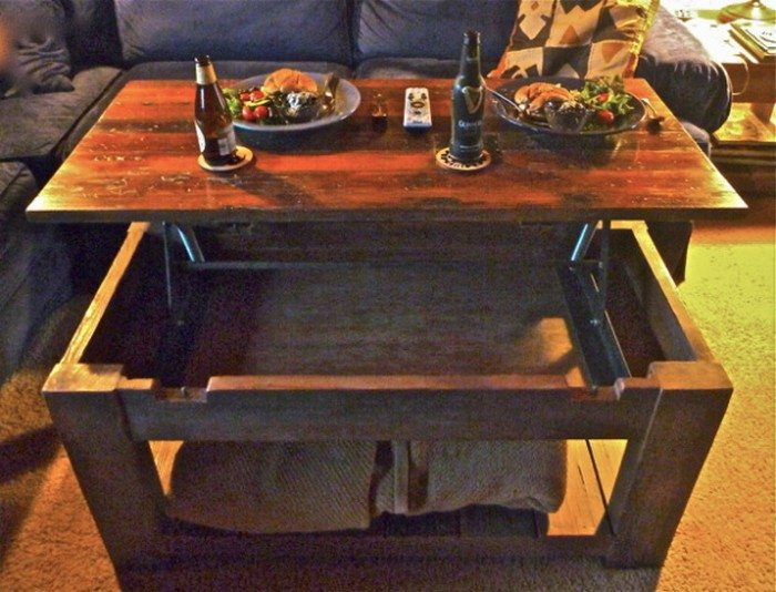 Diy Lift Top Coffee Table Diy Projects For Everyone