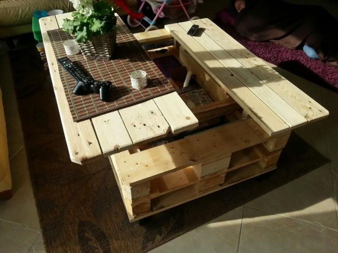 Lift Top Coffee Table Diy.Make A Lift Top Coffee Table Out Of Pallets Diy Projects For