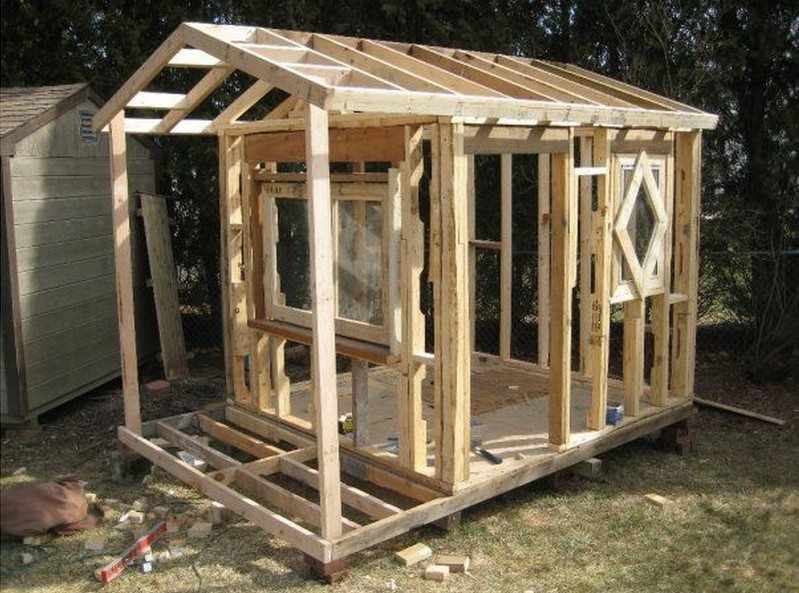 Framing up the roof