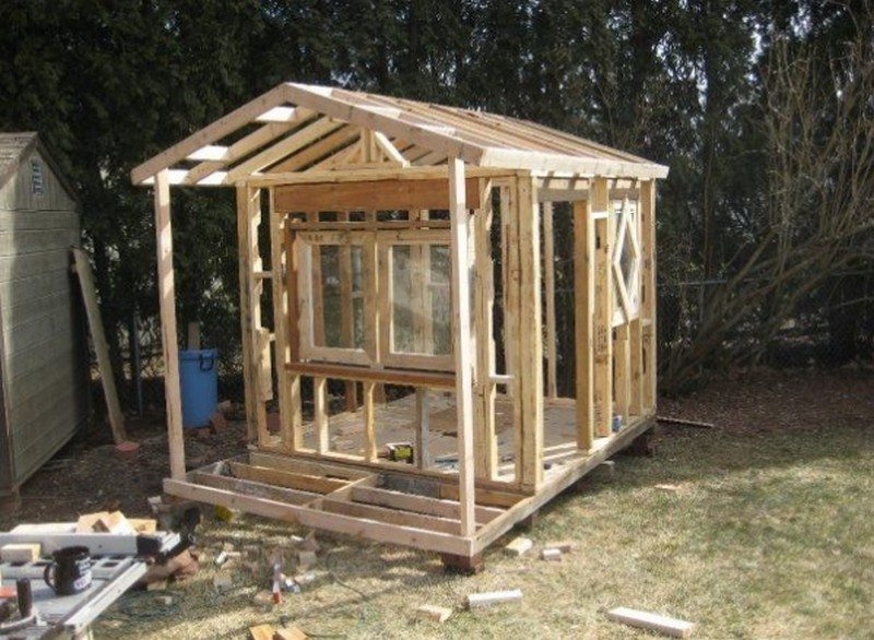 Framing up for the roof