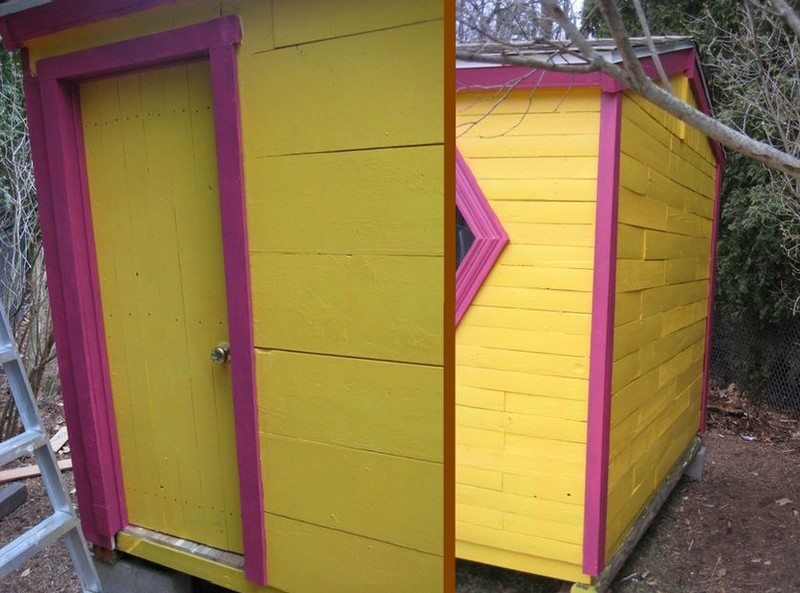 The back door and the 1x6 siding