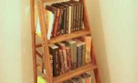 How To Turn A Ladder Into A Bookshelf
