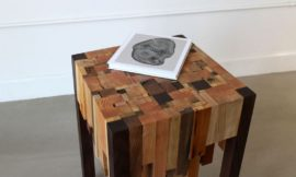 Make a beautiful side table from scrap timber pieces!