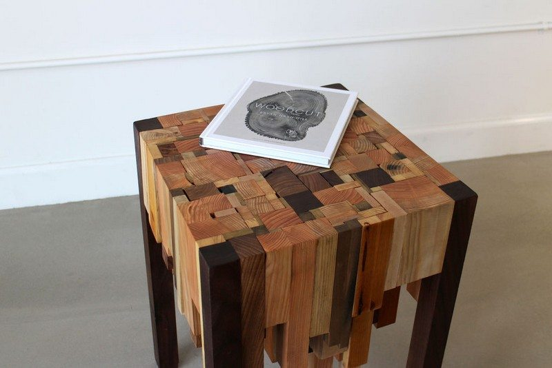 One man's trash... another man's inspiration! And end table made from timber off-cuts.