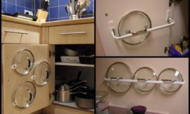 DIY Pot Lid Organizer