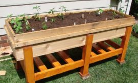 DIY Waist High Planter Box