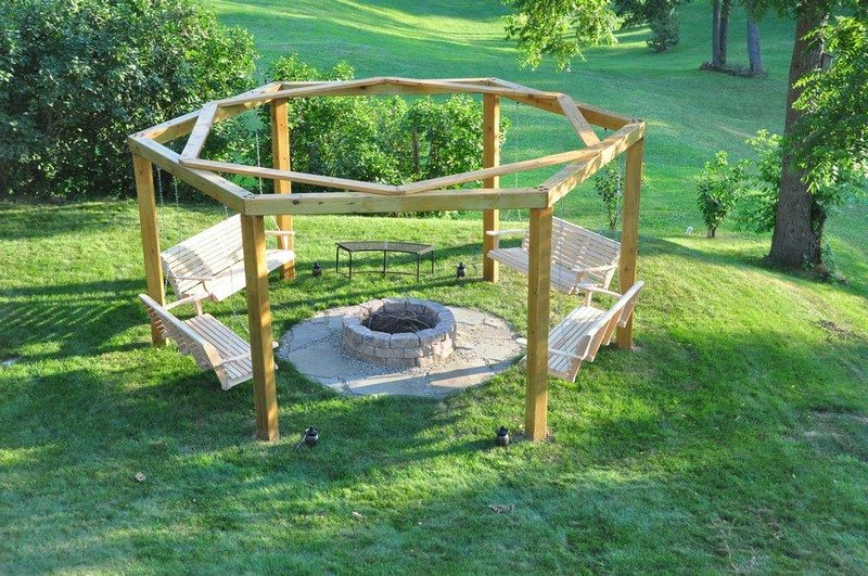 Build Your Own Fire Pit Swing Set