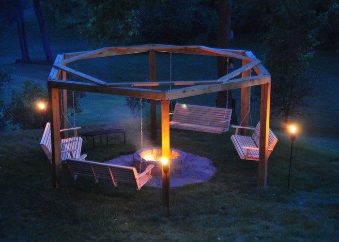 Build your own fire pit swing set diy projects for everyone for Materials needed to build a fire pit