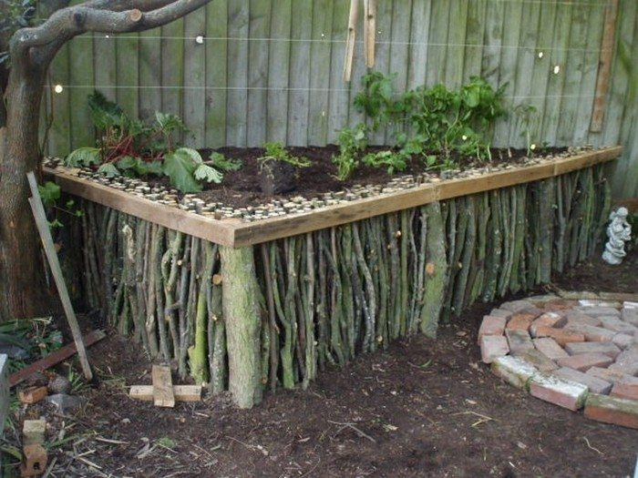 Natural Wood Raised Garden