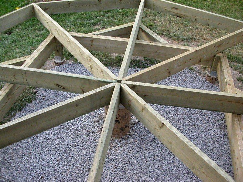DIY Octagonal Deck 10