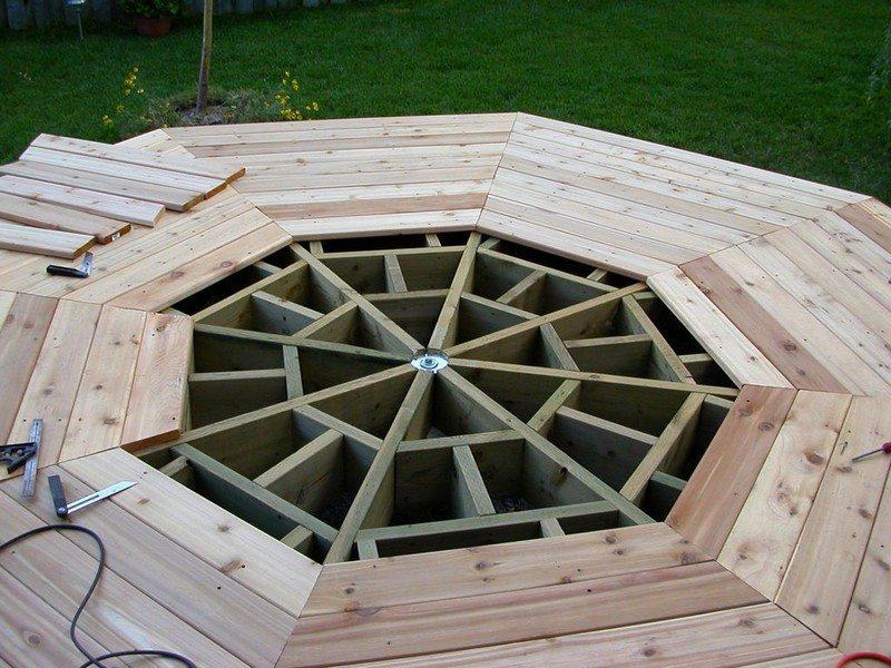 DIY Octagonal Deck 14