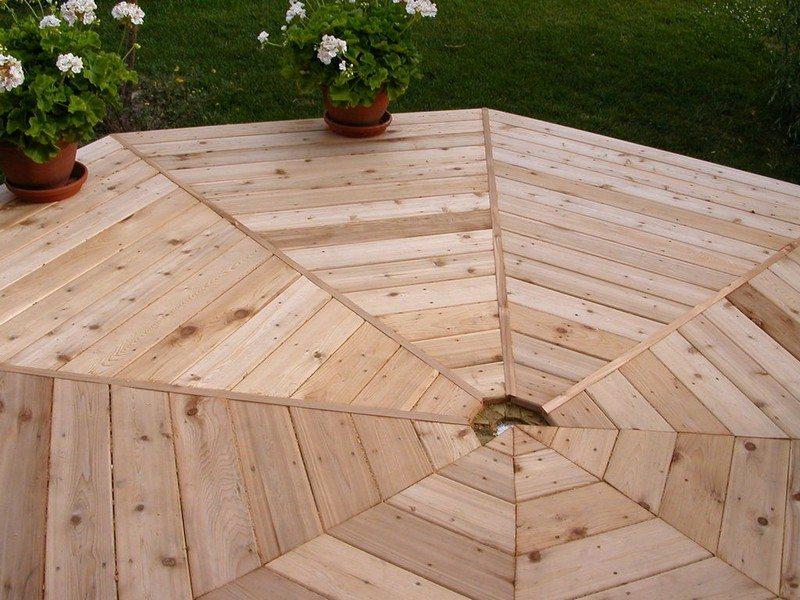 DIY Octagonal Deck 22