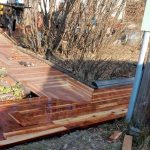 DIY Timber Sidewalk