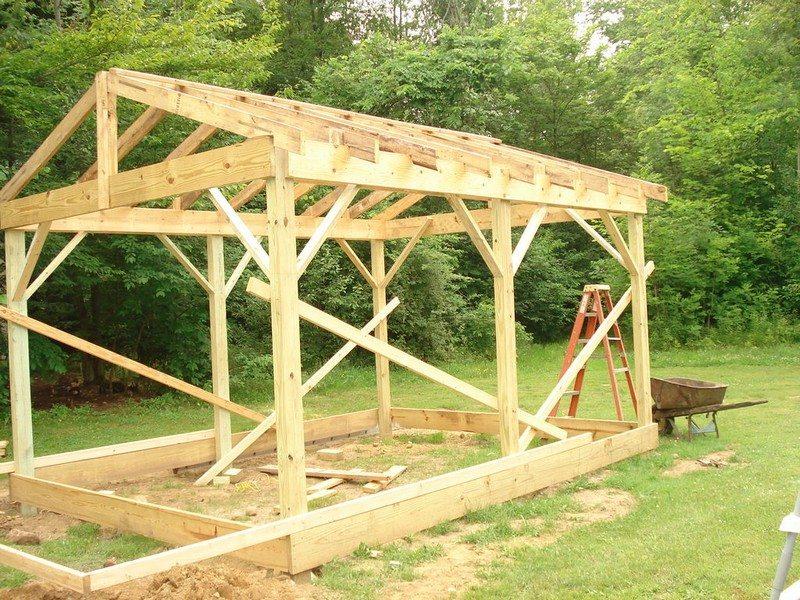 Как построить каркасный двор