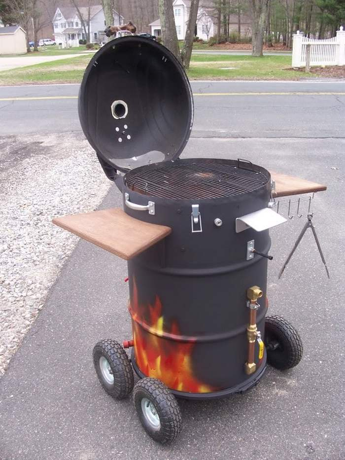 Build an ugly drum smoker diy projects for everyone - What temperature can you paint outside ...