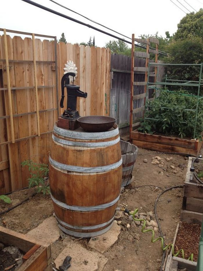 Diy Wine Barrel Outdoor Sink Diy Projects For Everyone
