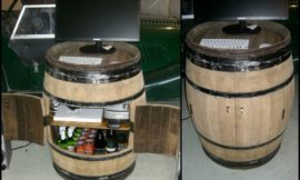 DIY Oak Barrel Bar
