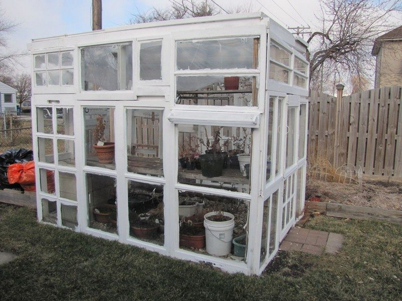 Greenhouse from old windows diy projects for everyone for How to build a greenhouse using old windows