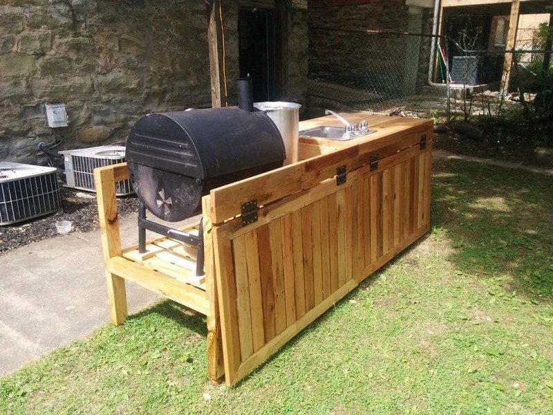 DIY Backyard Kitchen 48