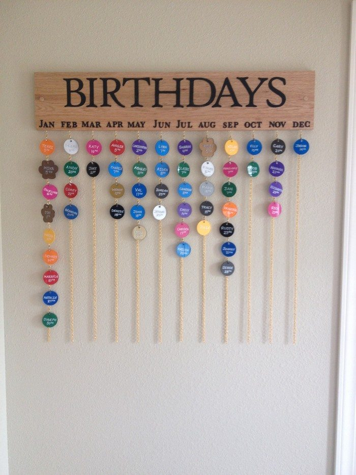 Make Your Own Hanging Birthday Calendar DIY Projects For