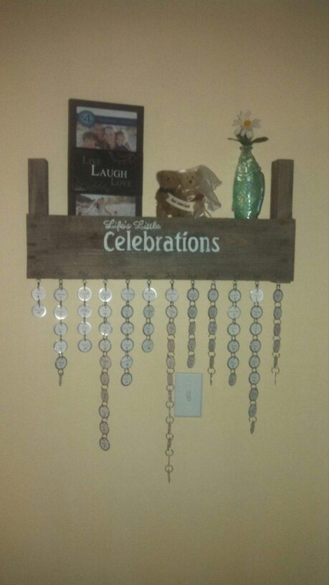 Diy Hanging Birthday Calendar : Make your own hanging birthday calendar diy projects for