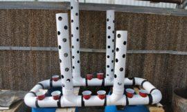 Easy-build, gravity-based, PVC aquaponic system