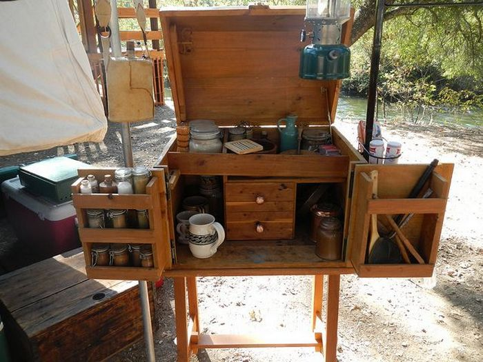 Build a portable camp kitchen for your next picnic or for Best camping kitchen ideas