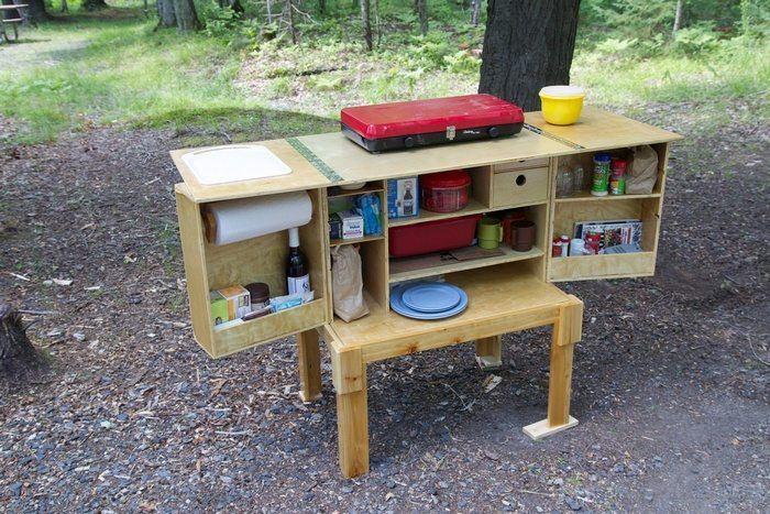 camp kitchen box design build a portable camp kitchen for your next picnic or 5091