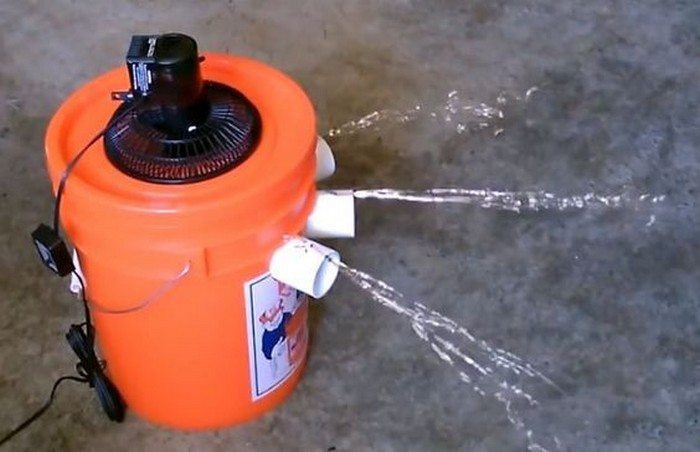 How To Make A 5 Gallon Bucket Air Conditioner Diy