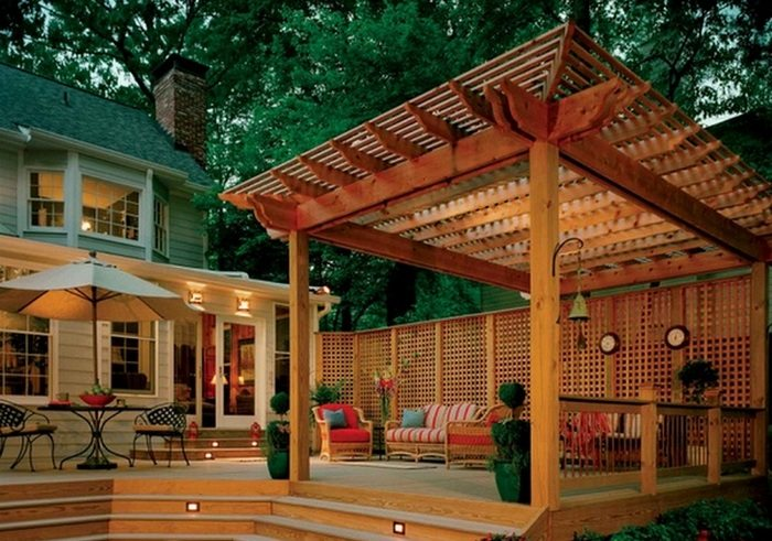 A good deck can make a house a home. In this example, the deck is oiled without any tint.