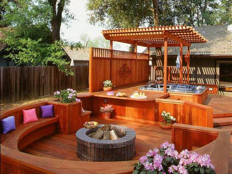 A great example of how decks can transform a suburban yard