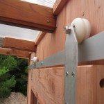 DIY Sliding Barn Door with Skateboard Wheels
