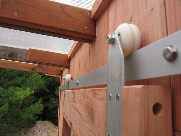 DIY Sliding Barn Door With Skateboard Wheels