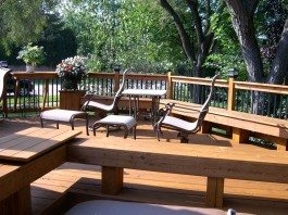 Have you considered building your seating along with your deck?