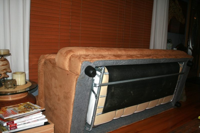 The old pull-out sofa