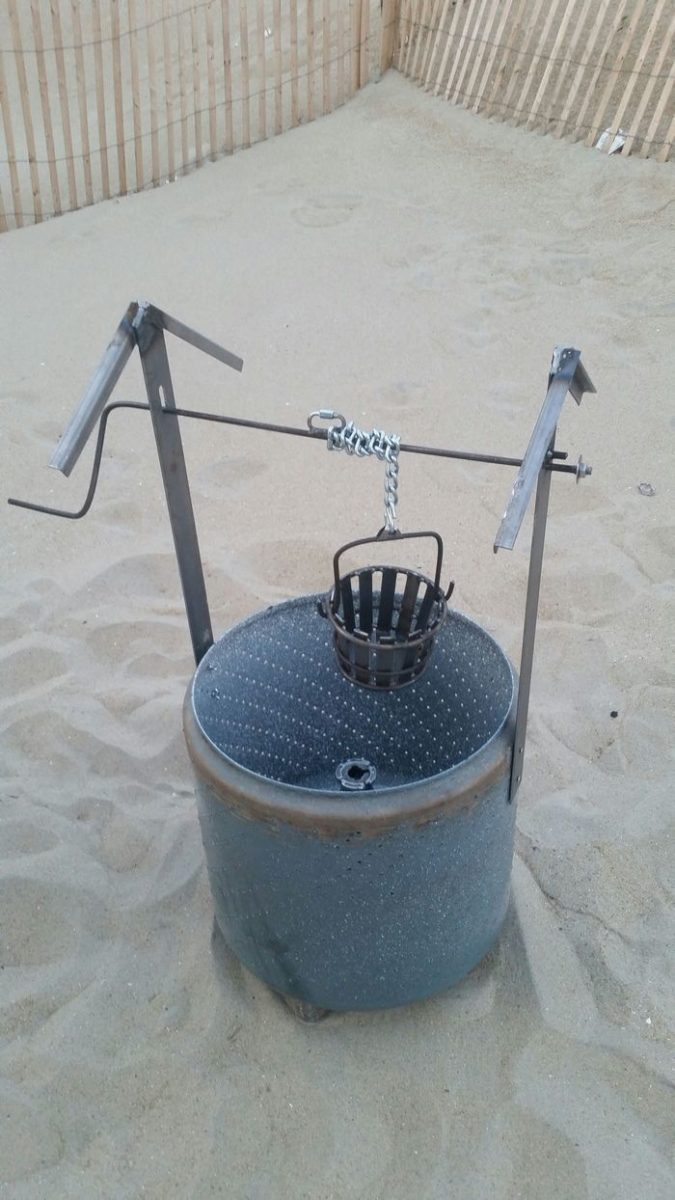 washing machine burn barrel