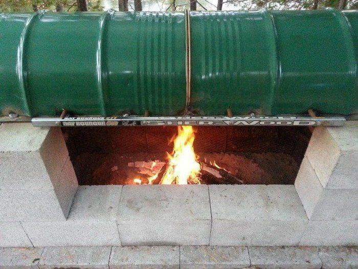 DIY Rotisserie Pit BBQ