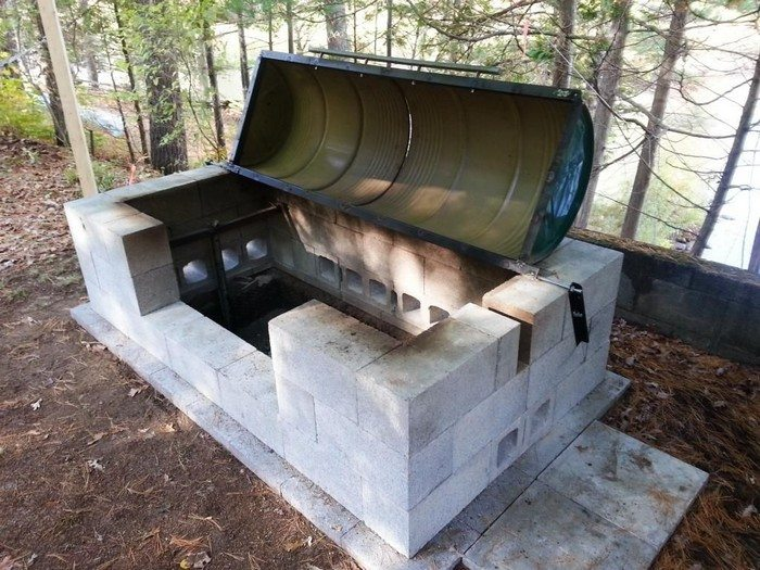 cinder block bbq pit plans how to build a rotisserie pit bbq diy projects for 634