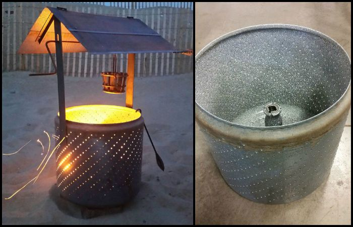 Build A Wishing Well Burn Barrel From An Old Washing