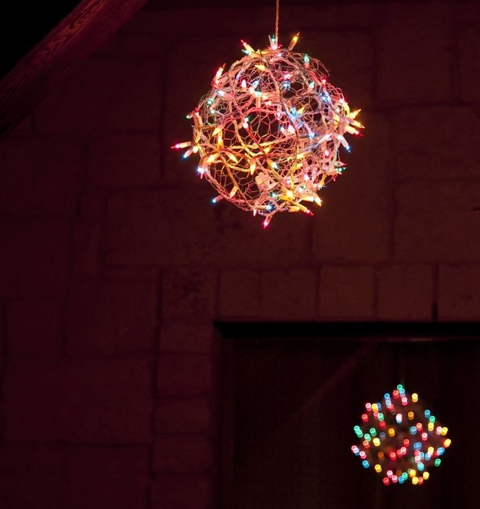 Make Your Own Christmas Light Balls Diy Projects For
