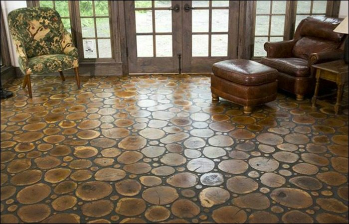 how to make your own cordwood floor