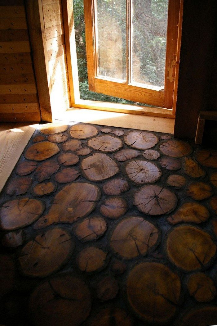 Cordwood Floors - How To Make Your Own Cordwood Floor DIY Projects For Everyone!