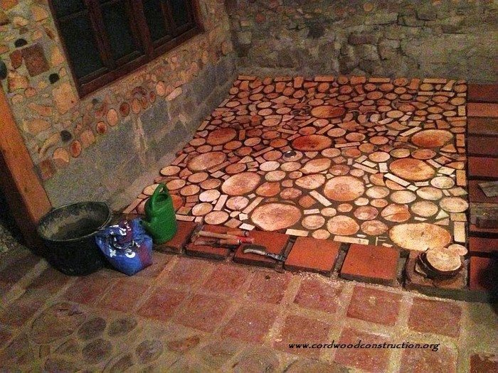 TAGS Cordwood Design Floors Home Interior Rustic