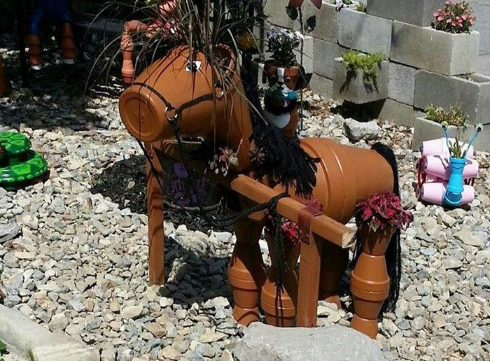 Finest Decorate your garden by making this clay flower pot horse | DIY  ZF45