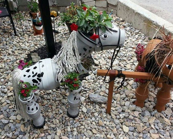 By making this clay flower pot horse diy projects for everyone