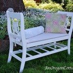 Garden Bench from Two Chairs