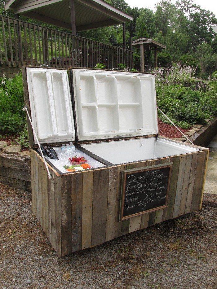 Old Fridge Rustic Cooler Sample