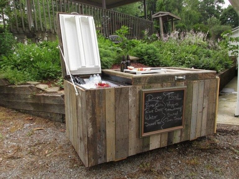 How to Turn an Old Fridge into an Awesome Rustic Cooler